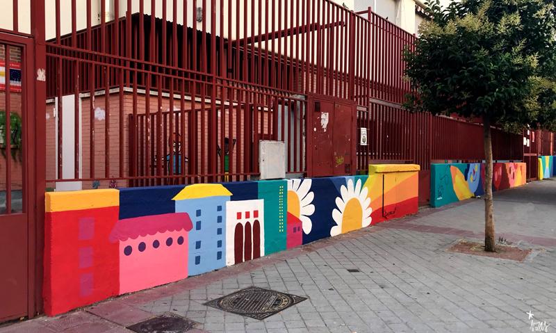 mural izas azulpatio ceip eduardo rojo exterior pano 1