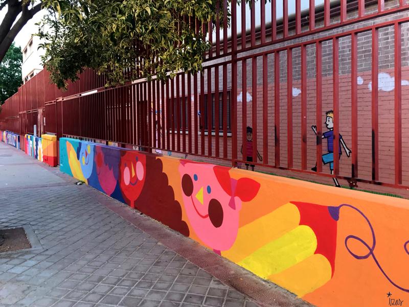mural izas azulpatio ceip eduardo rojo exterior pano 10