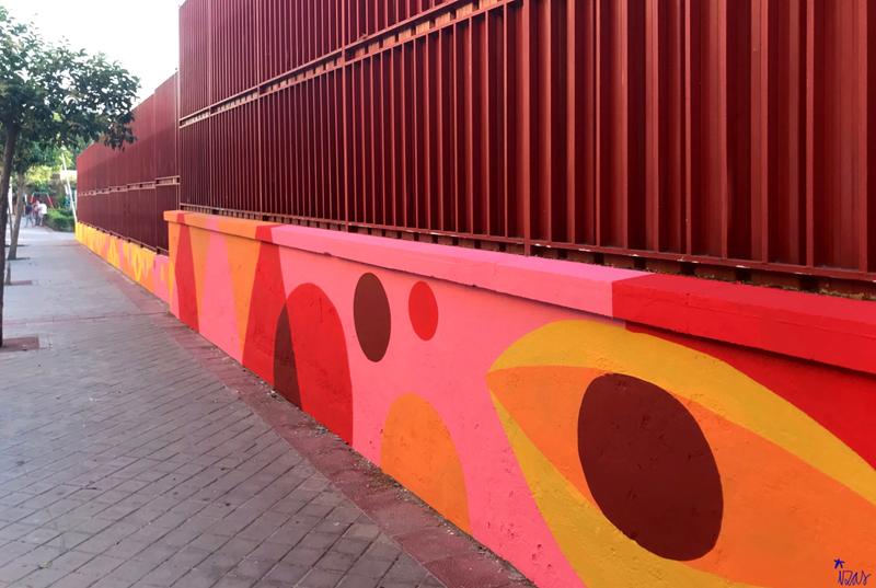 mural izas azulpatio ceip eduardo rojo exterior pano 5