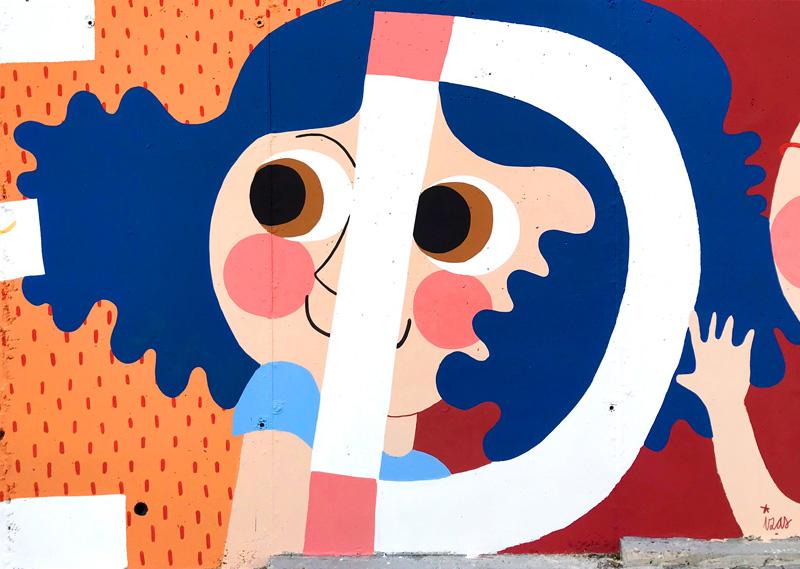 mural izas azulpatio ceip eduardo rojo fachada detalle 18