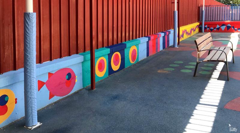 mural izas azulpatio ceip eduardo rojo infantil 10