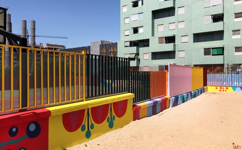 mural izas azulpatio ceip eduardo rojo infantil 8