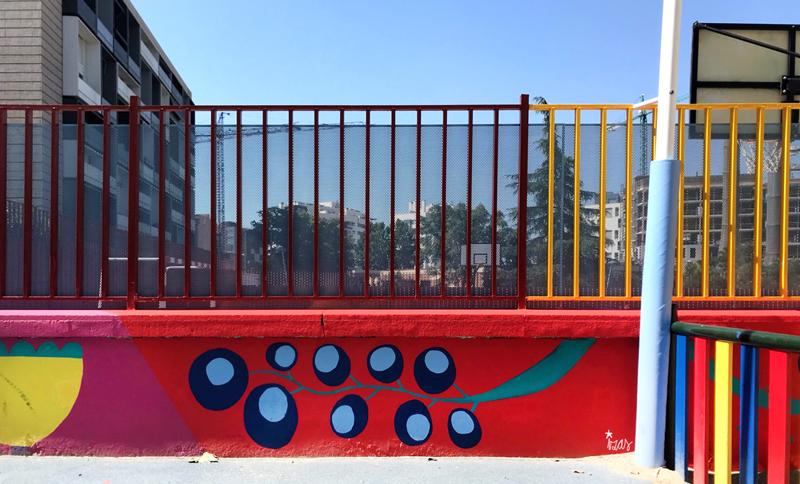 mural izas azulpatio ceip eduardo rojo infantil 9