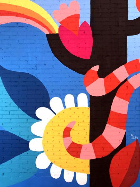 mural izas azulpatio ceip eduardo rojo ladrillo detalle 3
