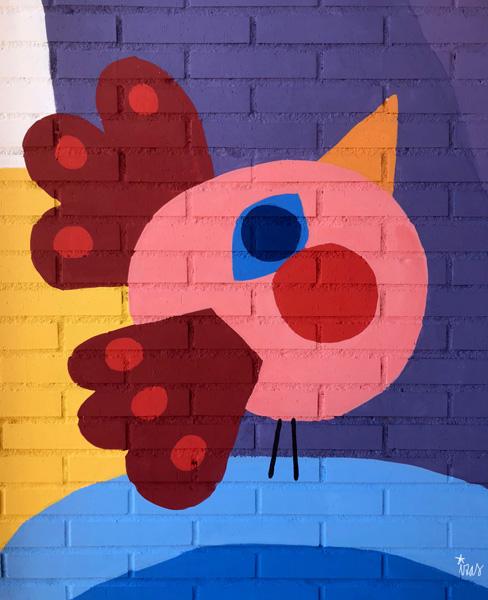 mural izas azulpatio ceip loyola de palacio infantil detalle 1