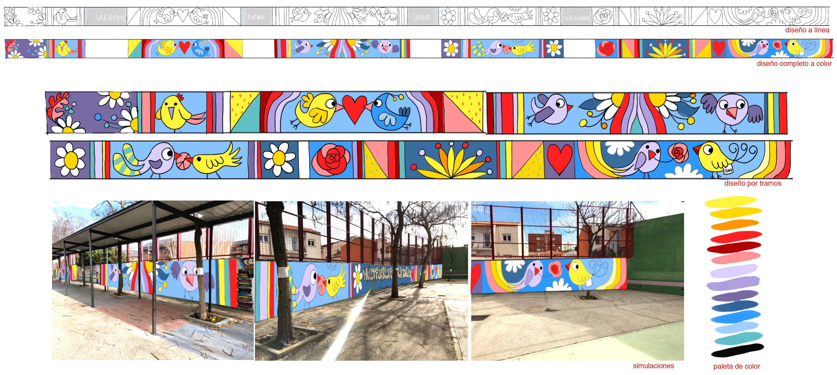 mural izas azulpatio proyecto asunción