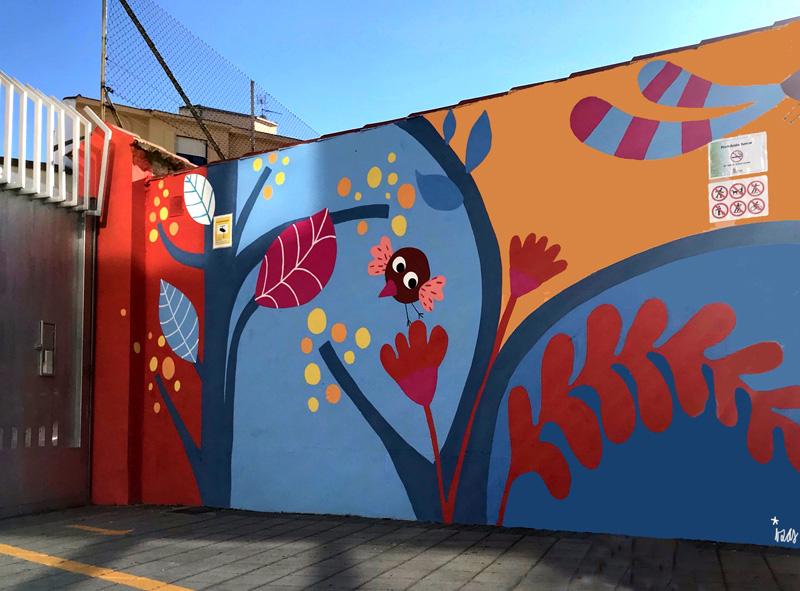 mural izas azulpatio san estanislao entrada 1