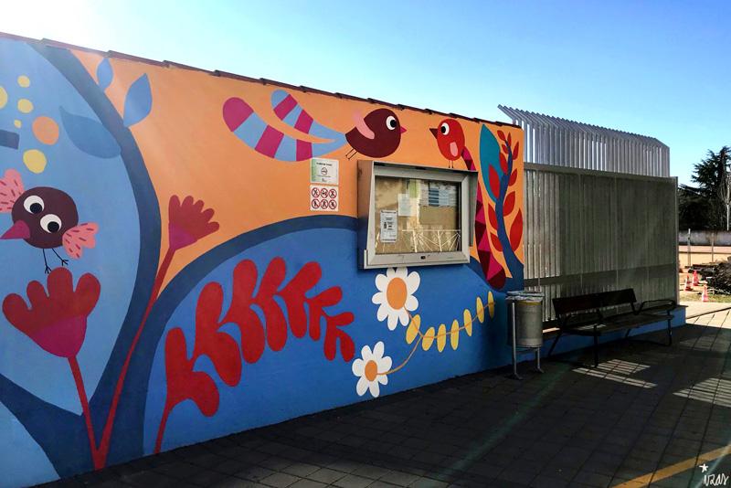 mural izas azulpatio san estanislao entrada 2