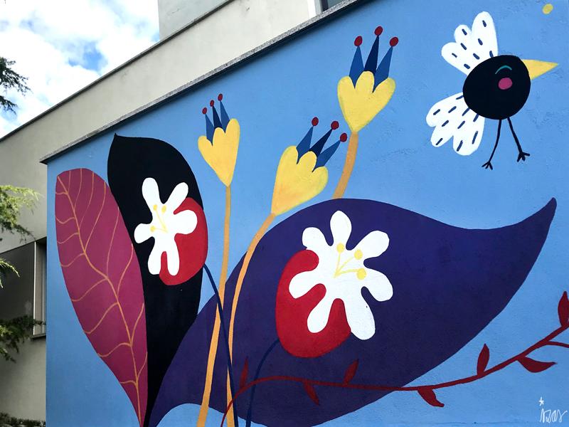 mural izas azulpatio san estanislao friso flores 3