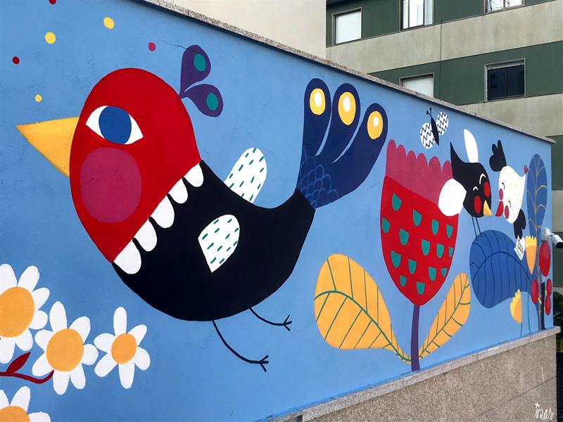 mural izas azulpatio san estanislao friso izq 1