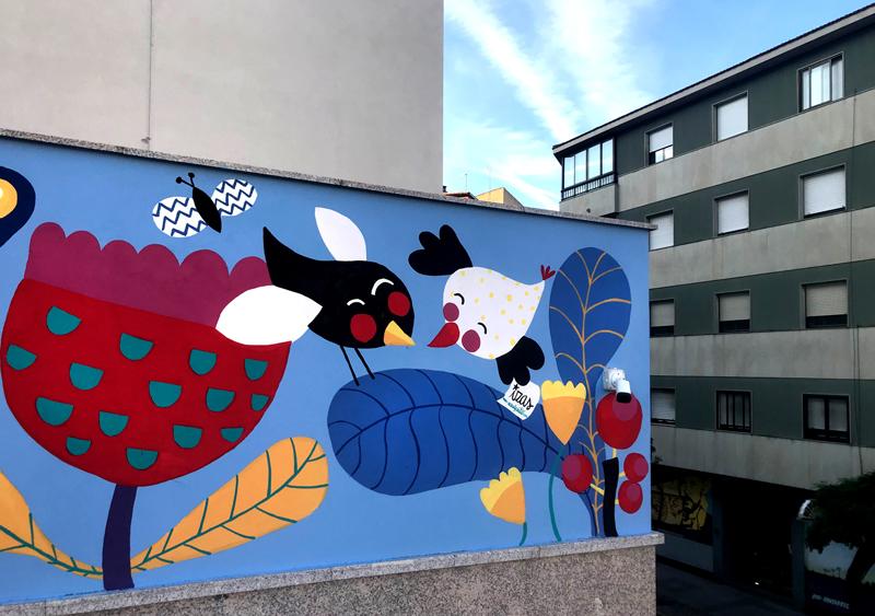 mural izas azulpatio san estanislao friso pajaritos 2