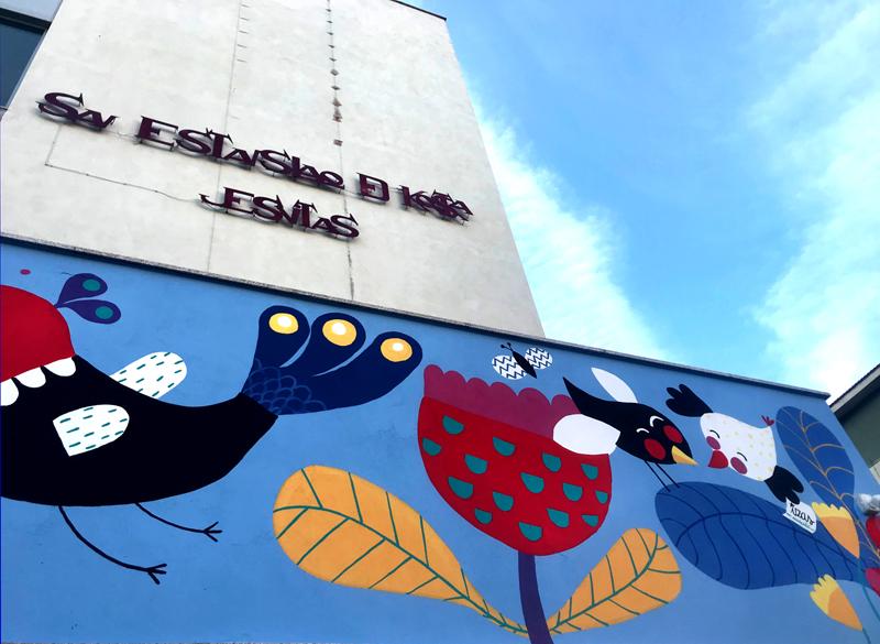 mural izas azulpatio san estanislao friso perspectiva 2
