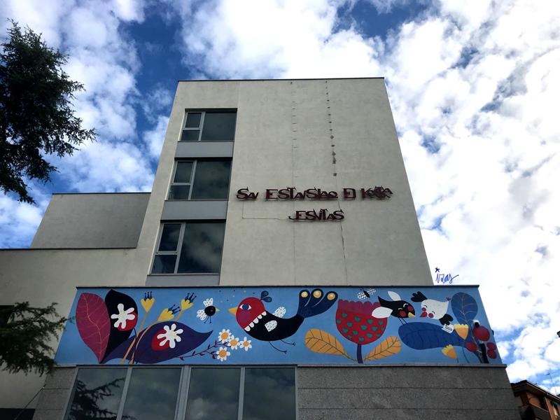 mural izas azulpatio san estanislao friso perspectiva 3