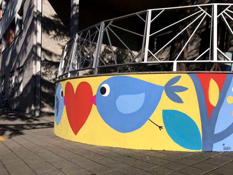 mural izas azulpatio san estanislao rampas 1