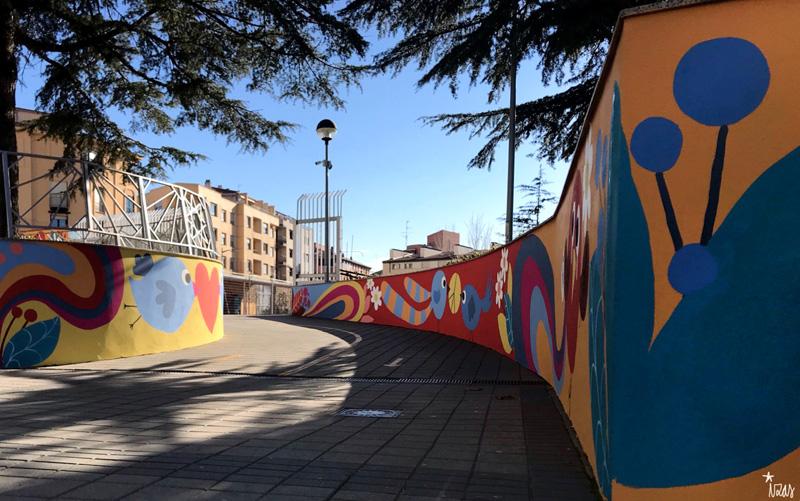 mural izas azulpatio san estanislao rampas 2