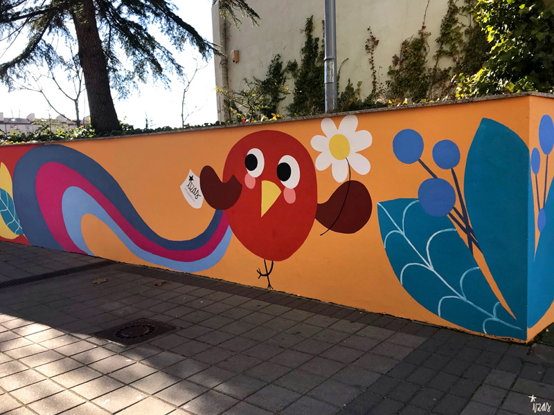mural izas azulpatio san estanislao rampas 3