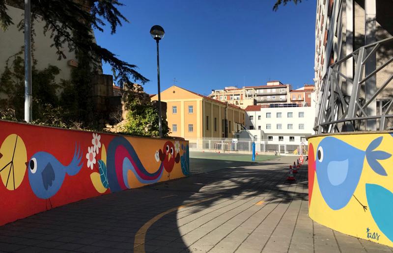 mural izas azulpatio san estanislao rampas 4