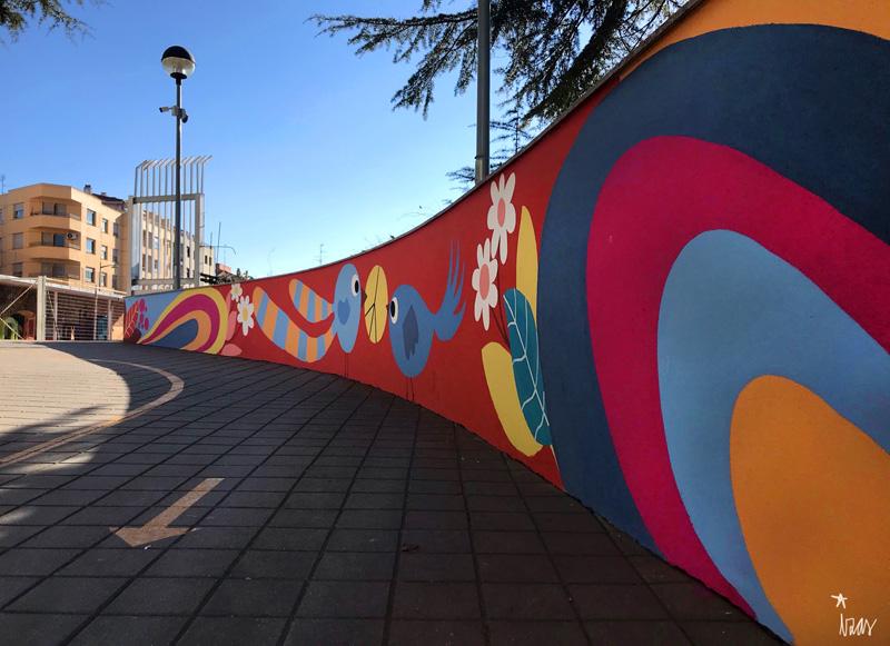 mural izas azulpatio san estanislao rampas 5