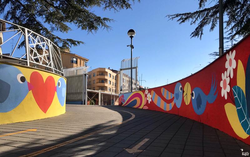 mural izas azulpatio san estanislao rampas 6