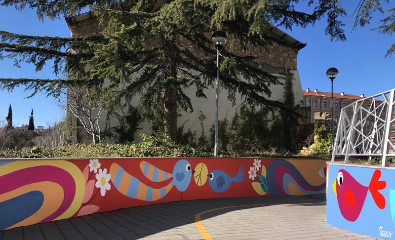 mural izas azulpatio san estanislao rampas 8