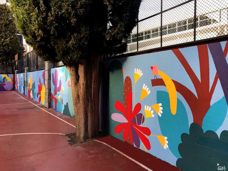 mural izas azulpatio ceip asunción rincón este 15