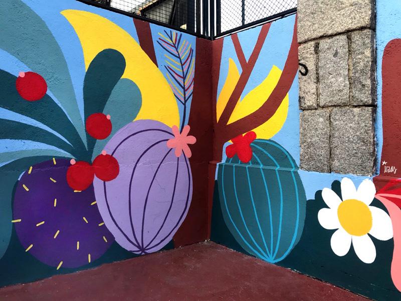mural izas azulpatio ceip asunción rincón norte 4