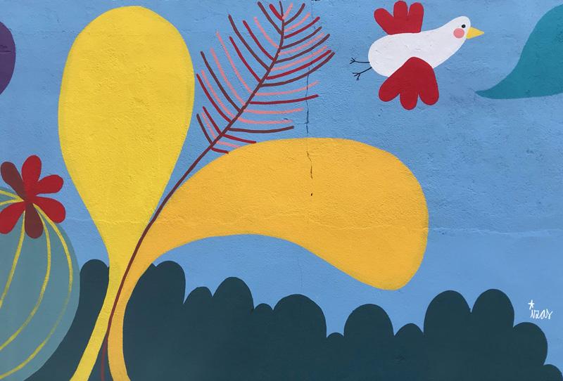 mural izas azulpatio ceip asunción rincón norte 5