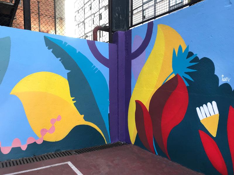 mural izas azulpatio ceip asunción rincón norte 6