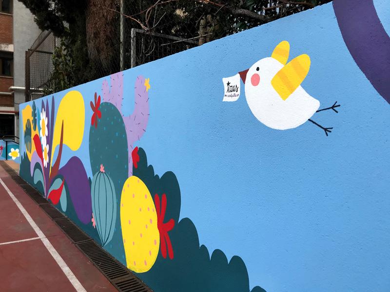 mural izas azulpatio ceip asunción rincón oeste 1