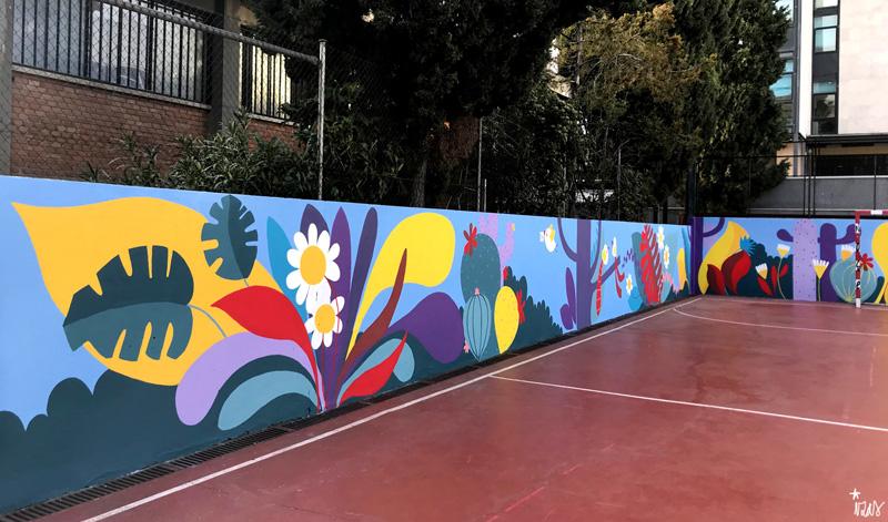 mural izas azulpatio ceip asunción rincón oeste 11