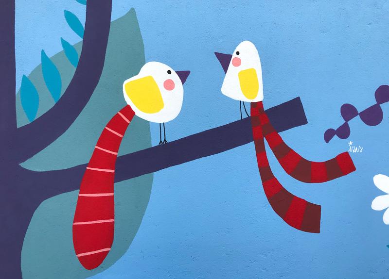 mural izas azulpatio ceip asunción rincón oeste 3