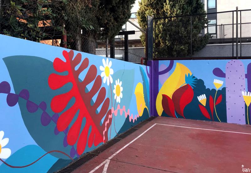 mural izas azulpatio ceip asunción rincón oeste 5