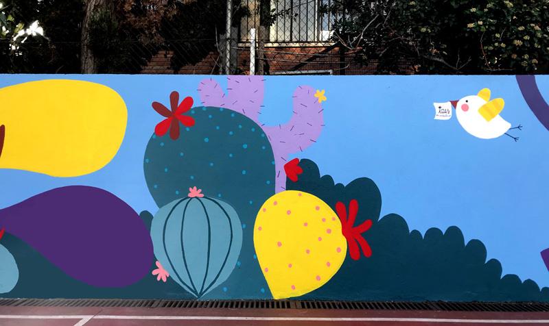 mural izas azulpatio ceip asunción rincón oeste 7