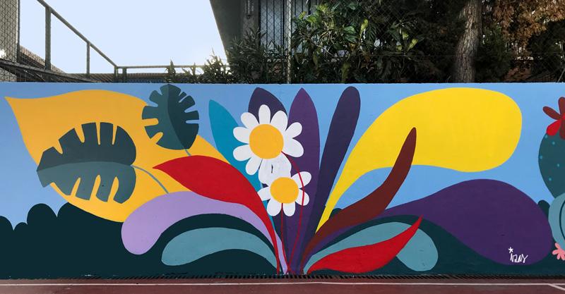 mural izas azulpatio ceip asunción rincón oeste 9