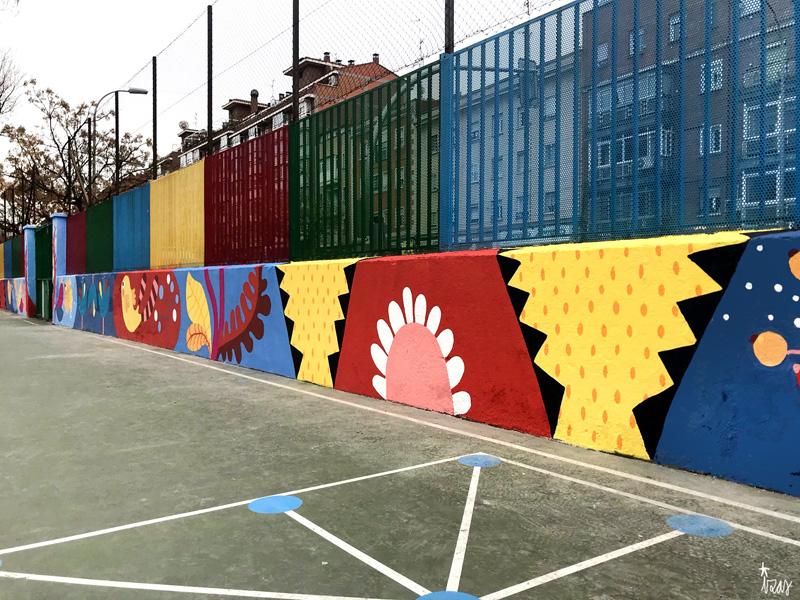 mural izas azulpatio ceip juan ramón jiménez dcha 3