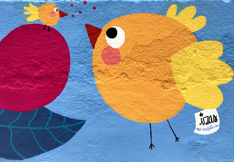 mural izas azulpatio ceip juan ramón jiménez detalle 1