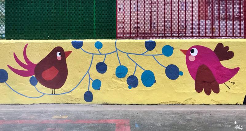 mural izas azulpatio ceip juan ramón jiménez detalle 10