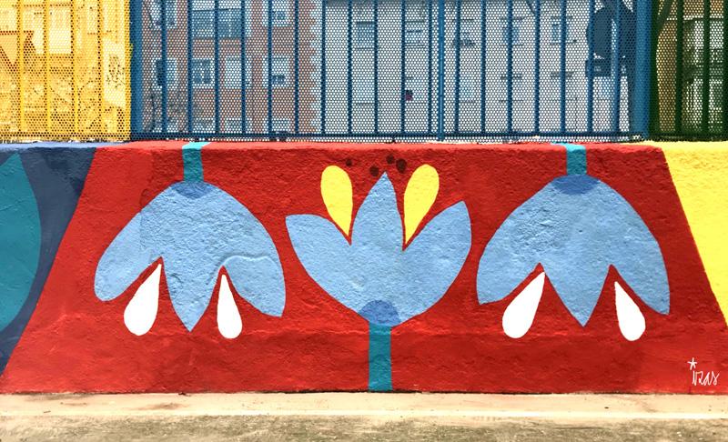 mural izas azulpatio ceip juan ramón jiménez detalle 12