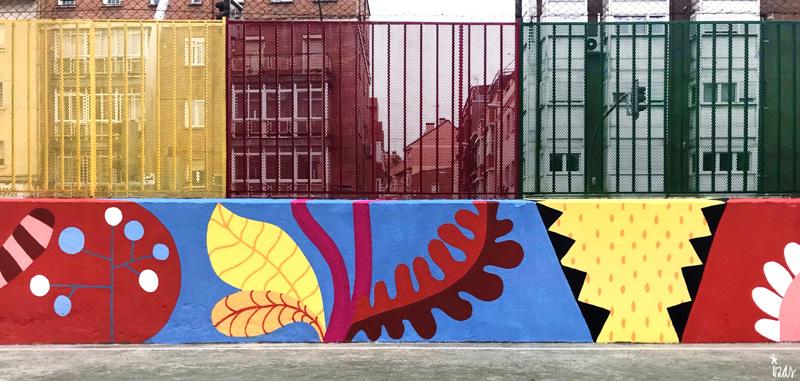 mural izas azulpatio ceip juan ramón jiménez detalle 13