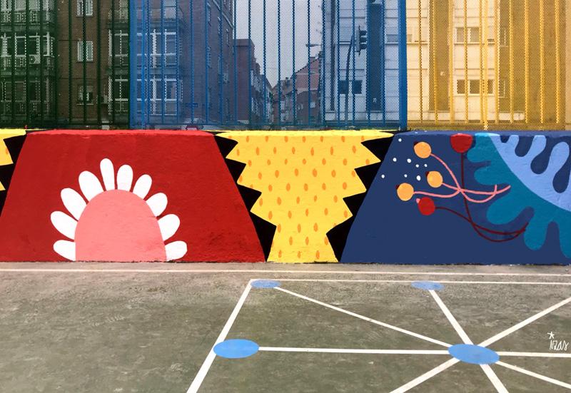 mural izas azulpatio ceip juan ramón jiménez detalle 14