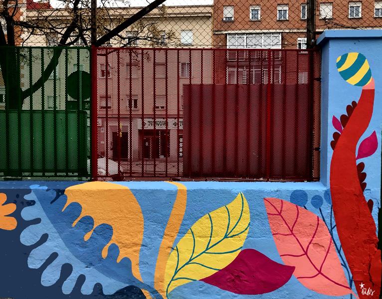 mural izas azulpatio ceip juan ramón jiménez detalle 15