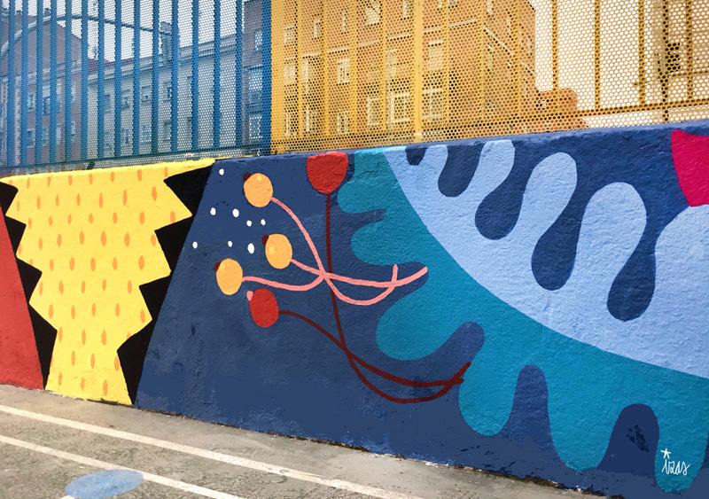 mural izas azulpatio ceip juan ramón jiménez detalle 3