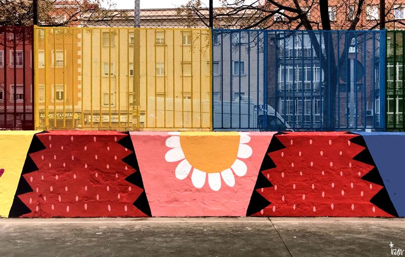 mural izas azulpatio ceip juan ramón jiménez detalle 9