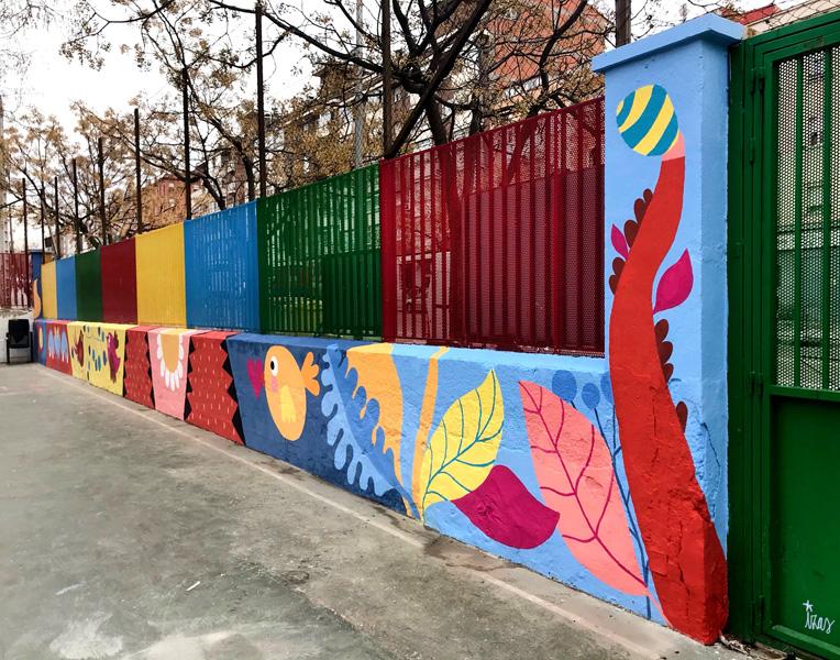 mural izas azulpatio ceip juan ramón jiménez izq 1