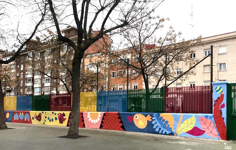 mural izas azulpatio ceip juan ramón jiménez izq 3