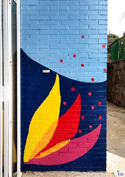 mural izas azulpatio ceip virgen de la paz detalle 2