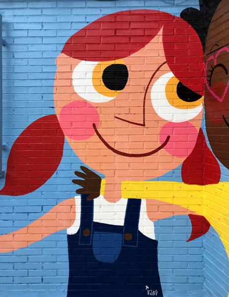 mural izas azulpatio ceip virgen de la paz detalle 4