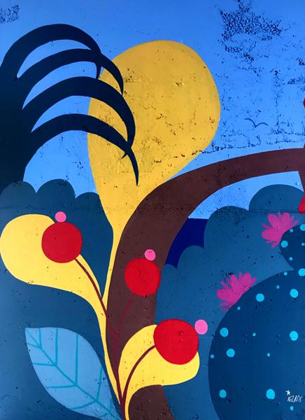 mural izas azulpatio colegio maria teresa detalle 3