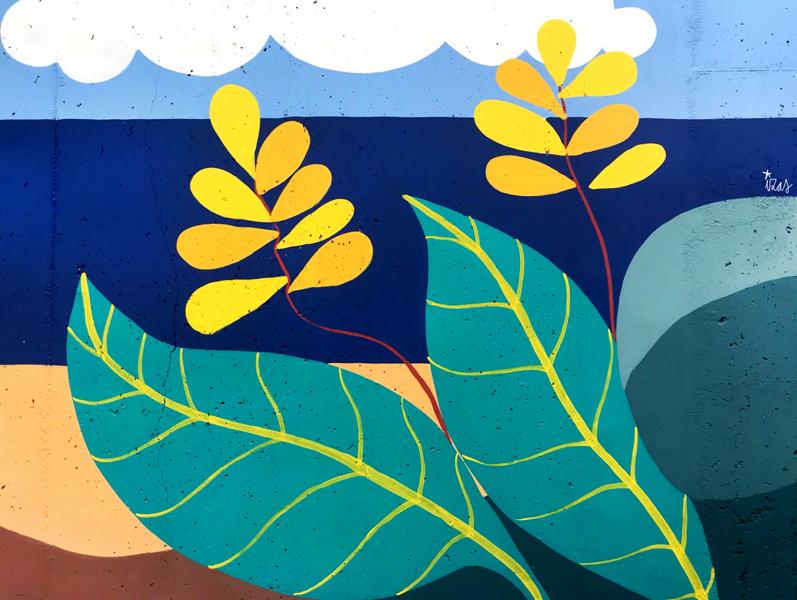 mural izas azulpatio colegio maria teresa detalle 5
