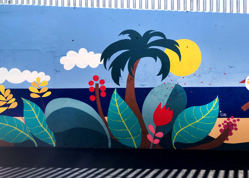 mural izas azulpatio colegio maria teresa detalle 8